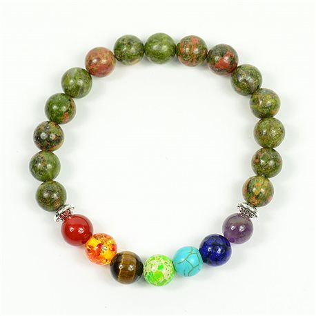 Bracelet Porte Bonheur 7 Chakras en Pierres naturelles New Collection 75791