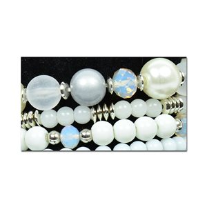 Bracelet CYBELE Cuff 4 Ranks Collection Bead Charms and Jewelry on Elastic Wire New Collection 75987