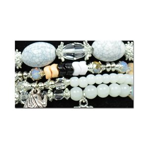Bracelet CYBELE Cuff 4 Ranks Collection Bead Charms and Jewelry on Elastic Wire New Collection 75993