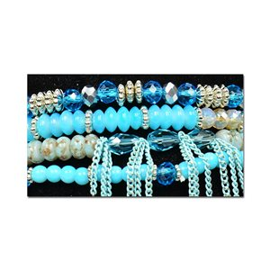 Bracelet CYBELE Manchette 4 rangs Collection Bead Charms et Bijoux sur fil élastic New Collection 75999