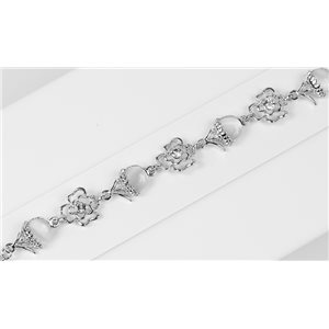 Bracelet métal Silver Color serti de Strass L19 cm The Best Collection Chic 76025