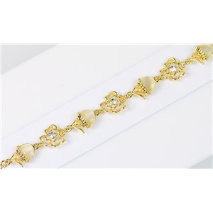 Bracelet métal Gold Color serti de Strass L19 cm The Best Collection Chic 76026