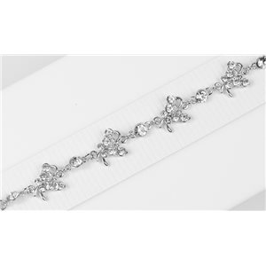 Silver Color metal bracelet set with Rhinestones L19 cm The Best Collection Chic 76029