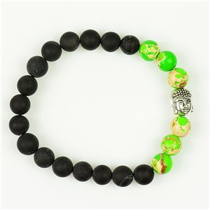 Tibetan Bracelet in Natural Stone Buddha Collection 76114