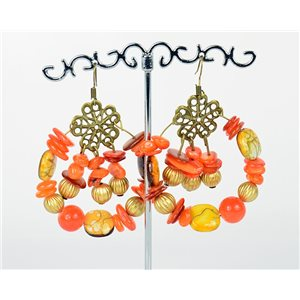 1p Earrings Ears Nacre and Shells Mode Fashion Summer 76162