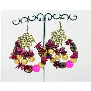 1p Earrings Ears Nacre and Shells Mode Fashion Summer 76163