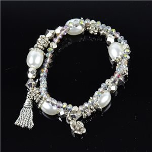 Bracelet CYBELE Bijoux Bead Charms sur fil élastic New Collection 76131