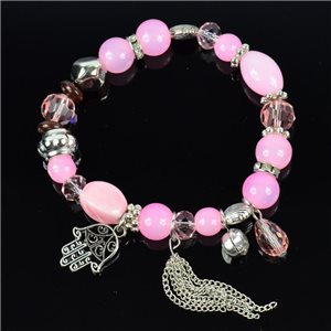 Bracelet CYBELE Bijoux Bead Charms sur fil élastic New Collection 76133