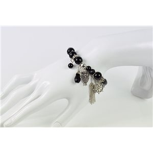 Bracelet CYBELE Bijoux Bead Charms sur fil élastic New Collection 76137