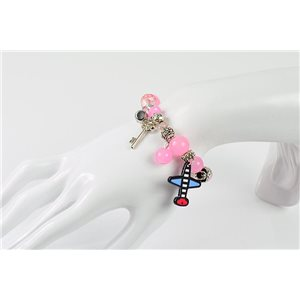 Bracelet CYBELE Jewelry Bead Charms on Elastic Wire New Collection 76138