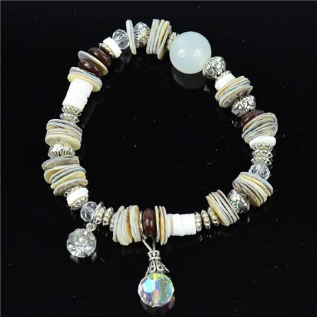 Bracelet CYBELE Jewelry Bead Charms on elastic thread New Collection 76139