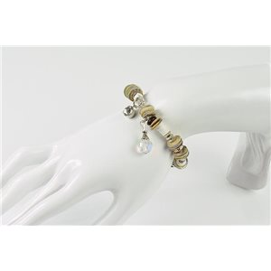 Bracelet CYBELE Bijoux Bead Charms sur fil élastic New Collection 76139