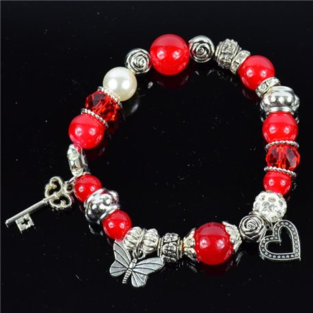 Bracelet CYBELE Jewelry Bead Charms on elastic thread New Collection 76140