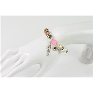 Bracelet CYBELE Bijoux Bead Charms sur fil élastic New Collection 76144
