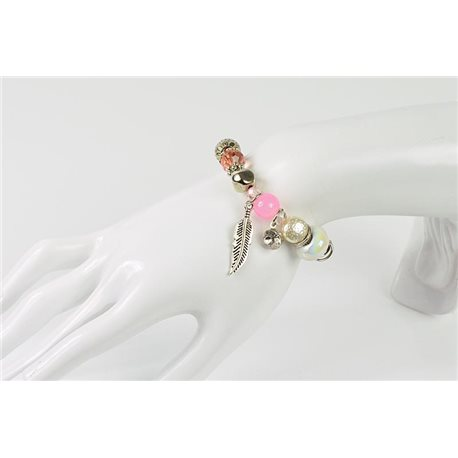 Bracelet CYBELE Jewelry Bead Charms on Elastic Wire New Collection 76144