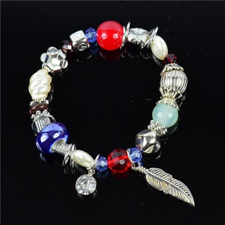 Bracelet CYBELE Jewelry Bead Charms on elastic thread New Collection 76150