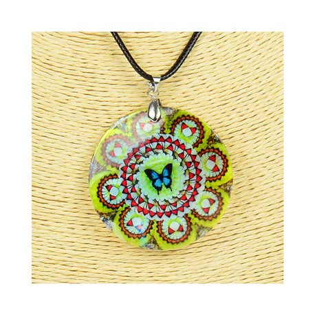 Pendant necklace 5 cm Natural Mother of Pearl Fashion Design L48cm New Collection 76189