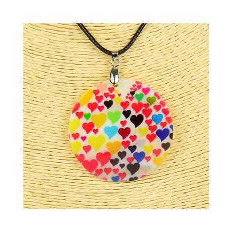 Pendant necklace 5 cm Natural Mother of Pearl Fashion Design L48cm New Collection 76193