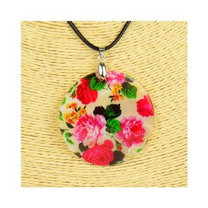 Pendant necklace 5 cm Natural Mother of Pearl Fashion Design L48cm New Collection 76199