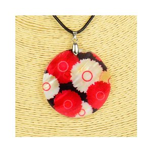 Pendant necklace 5 cm Natural Mother of Pearl Fashion Design L48cm New Collection 76201