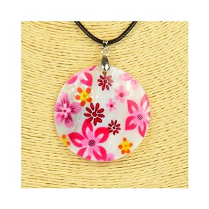 Pendant necklace 5 cm Natural Mother of Pearl Fashion Design L48cm New Collection 76208