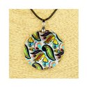 Pendant necklace 5 cm Natural Mother of Pearl Fashion Design L48cm New Collection 76228