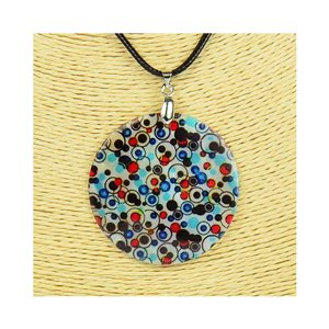 Collier Pendentif 5cm en Nacre naturelle Fashion Design L48cm New Collection 76248