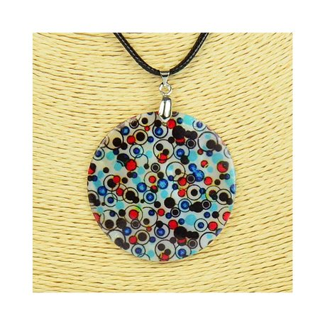 Pendant necklace 5 cm Natural Mother of Pearl Fashion Design L48cm New Collection 76248