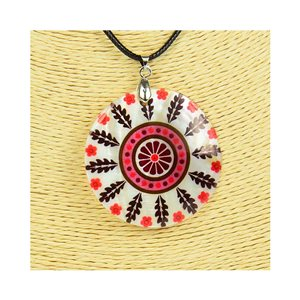 Pendant necklace 5 cm Natural Mother of Pearl Fashion Design L48cm New Collection 76256