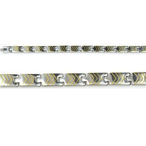 Bracelet in Stainless Steel Collection 2019 Gold & Silver 9mm 21cm 76404