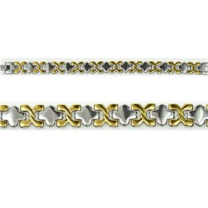 Bracelet in Stainless Steel Collection 2019 Gold & Silver 12mm 19.5cm 76402