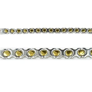 Bracelet gourmette en Acier Inoxydable Collection 2019 Gold & Silver 12mm 20.5cm 76412