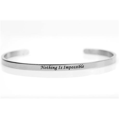 stainless steel message bracelet 76421 Message: Nothing Is Impossible