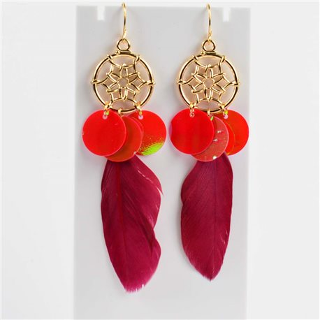 1p Earrings with hooks 10cm Original Collection Feathers 2019 76492