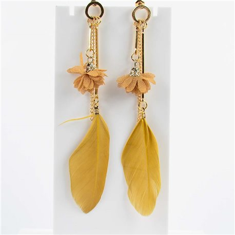 1p Earring Earrings with nail 11cm Original Collection Feathers 2019 76475