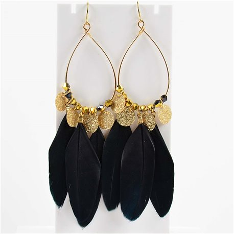 1p Earring Hanging Earrings 11cm Original Collection Feathers 2019 76496