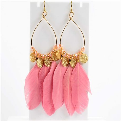 1p Earrings Hanging hook 11cm Original Collection Feathers 2019 76498