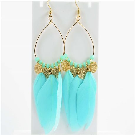 1p Earrings Hanging hook 11cm Original Collection Feathers 2019 76502