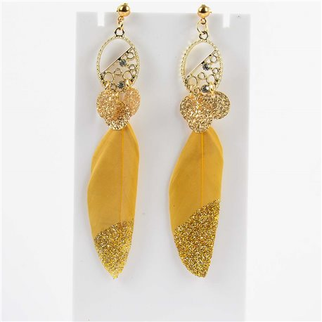 1p Drop Earrings 9cm Original Feather Collection 2019 76512