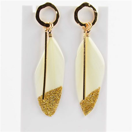 1p Earring Earrings with nail 8cm Original Collection Feathers 2019 76514