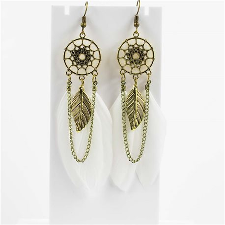 1p Earrings hanging hook 10cm Original Collection Feathers 2019 76478