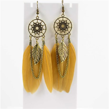1p Earrings Hanging hook 10cm Original Collection Feathers 2019 76483