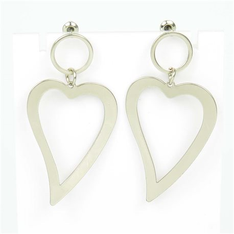 1p Earrings Nail 50mm metal color SILVER New Graphika Trend 76547