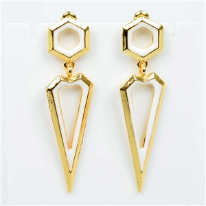 1p Earrings Nail 55mm metal color GOLD New Graphika Trend 76530