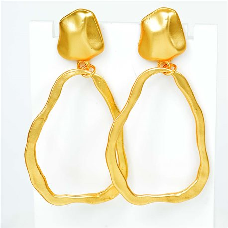 1p Earrings Nail 60mm metal color GOLD New Graphika Trend 76544