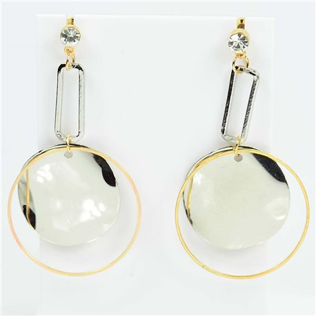 1p Earrings Nail 60mm metal color GOLD New Graphika Trend 76556