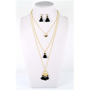 Adornment Collection Pompon 2019 Necklace long necklace multirang golden chain L48cm 76569