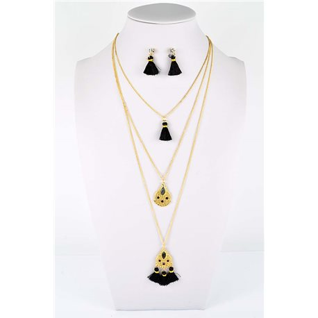 Adornment Collection Pompon 2019 Necklace Long necklace multirang golden chain L48cm 76593