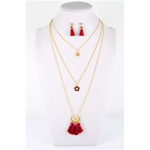 Adornment Pompom Collection 2019 Necklace Multirang chain necklace gold L48cm 76598