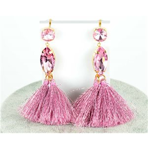 1p Boucles Oreilles Pendantes à clou 9cm New Collection Pompon 2019 76686